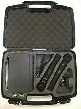 QTX Doble De Mano Vhf VH2 Pro Sistema de Micrófono en Estuche 173.8 - 174.8Mhz