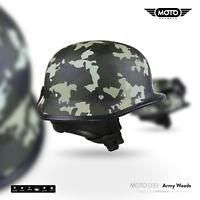 MOTO D33 ARMY W - Jet-HELMET VESPA SCOOTER CHOPPER BIKER Motorcycle S M L XL XXL