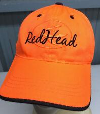 Redhead Safety Orange Hunting Strapback Baseball Cap Hat