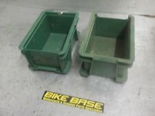 2 x HEAVY DUTY PLASTIC STORAGE BOXES CRATES CONTAINERS STACKABLE 300X200X140