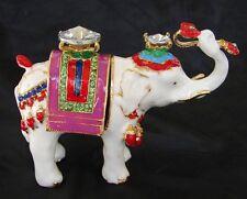 Bejeweled Elephant Statue Carrying Ru Yi