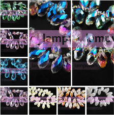 12mm 13mm 16mm 20mm Faceted Teardrop Charms Crystal Glass Loose Spacer Beads