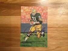 Jim Taylor Signed Goal Line Art Card W/Inscription JSA COA