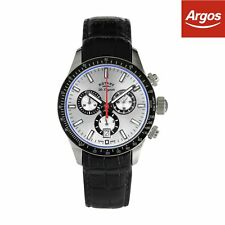 Rotary Swiss Quartz GS90151/06 Chronograph Watch - Black/Silver.