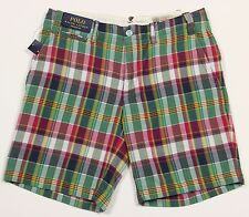 Men's POLO RALPH LAUREN Colors Madras Plaid Shorts 33 NWT NEW Straight Fit HOT!!