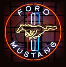 """New Ford Mustang Dealer Car Auto Neon Light Sign Lamp 20""""x20"""""""