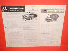 "1960 IH INTERNATIONAL TRUCK ""C"" ""R"" ""V"" SCOUT MOTOROLA AM RADIO SERVICE MANUAL"