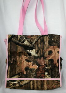 MOSSY OAK INFINITY CAMO CAMOUFLAGE & PINK DIAPER BAG, or TOTE DEER