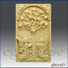 egbhouse, 2D Silicone Soap Mold, plaster/polymer clay mold – Tree of Life