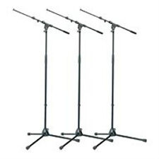 3 Pack K&M 21090B  210/9 Mic Stand & Boom Arm New!