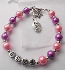 Personalised bracelet best friends Bff class mates end of school term xmas gift