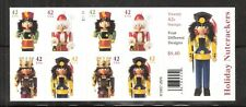 2008 #4363b with 4360-4363 Holiday Nutcrackers 42 cents D/S Booklet of 20 MNH