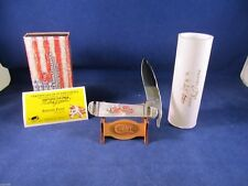 "2013 Case Proto ""00"" Painted Pony ""CHERRY BLOSSOM "" Russlock Knife Pearl Mint"