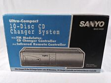 Vintage Sanyo MAX-5000 Ultra-Compact 10-Disc CD Changer w/ FM Modulater & Remote