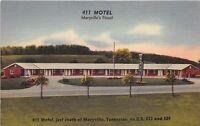 Marysville Tennessee 1950s Postcard 411 Motel