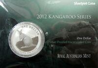 2012 KANGAROO SILVER 1oz Coin Carded