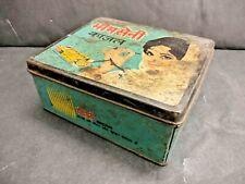 Vecchio Vintage Bhimsaini Kajal Adv. Firmare Ferro Latta Scatola, da Collezione
