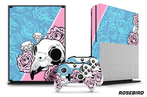 Designer Skin for XBOX ONE S 1S Gaming Console+2 Controller Sticker Decal ROSEBD