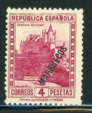 SPANISH MOROCCO MH Selections: Scott #142 4P Magenta CV$2+