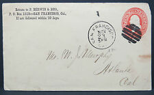 US Cover 2c Berwin & Bro. Fancy Cancel Stationery Ganzsache Brief (Lot # 8937