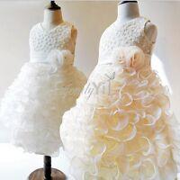 Formal Princess Bridesmaid Flower Girl's Christening Dress Wedding Party Dresses