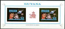 GUYANA 1992 500 ans Christopher COLUMBUS Block Mi 3985 B GOLD/GOLD Imperf