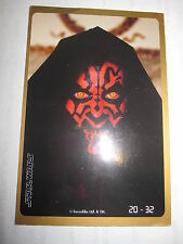 STAR WARS EPISODE 1 CRAZY PLANET MEGA STICKERS 20/32 DARTH MAUL MINT/NEAR MINT