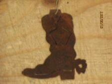 Western Rustic Christmas Ornament Texas Cowboy Boot Holiday Home Decor Country