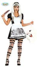 Costume Alice Horror Taglia M42/44 Travestimento Donna Carnevale Halloween Nuovo