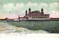 Vintage Postcard - Ellis Island Building - Un-Posted - New York City NY #3137