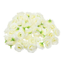 50x Artificial Rose Silk Flower Heads Wedding Party Decor Crafts Ivory