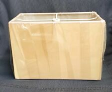"""Eggshell Rectangle Hard Lamp Shade 8"""" Height spider fitting New"""