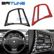 Steering Wheel Button Carbon Fiber Trims For BMW 1 3 4 Series F30 F36 F20 GT F34