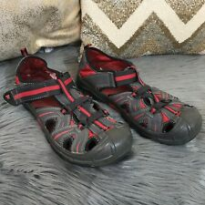 "MERRELL ""HYDRO"" BLACK-RED leather trail sandals Shoes Women SZ 6.0 M"