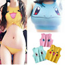 2019 Sexy Girls Cosplay Costume Pokemon Pikachu Sleeveless Tee Vest Crop Top