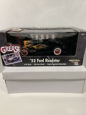 ERTL American Muscle '32 Ford Roadster GREASE 1:18 Scale Die Cast Black w/Flames