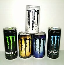 RARE! Set of MINI & 8.3 oz Monster Energy Collectible Cans - EMPTY (Bottom)