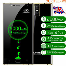 "6000mAh OUKITEL K3 5.5"" Smartphone Android Phone 64GB ROM 4GB RAM Mobile Phones"