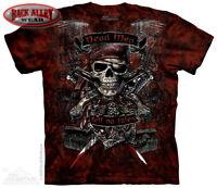 Dead Men Tell No Tales Pirate Skull T-Shirt Mountain Tee