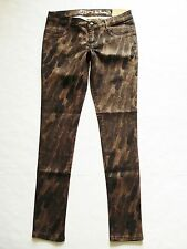 New! Princess VERA WANG sz 5 Printed Twill Legging Jeans Jegging Stretch Skinny