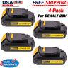 DCB201 For DeWALT 20 Volt MAX DCB207 Compact Battery DCB203 DCD771 DCB102 4-Pack