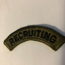 MILITARY-U S ARMY MILITARY RECRUITING TAB- SUBDUED
