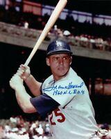 "Frank Howard Signed Autographed 8X10 Photo Dodgers ""1960 NL ROY"" w/Bat w/COA"