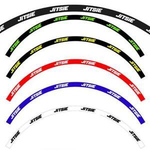Jitsie Trials Bike Full Set Front And Rear Wheel Rim Sticker/Decal