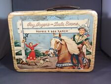 Vintage Roy Rodgers and Dale Evans Double R Bar Ranch Metal Lunch Box