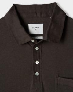 Billy Reid SMALL Cotton Linen Polo - Black