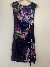 Ladies Formal Dress Paraphase XS/6 Purple Polyester Sleeveless <JS2971