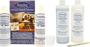 8oz/16oz/32oz Amazing Clear Cast Epoxy Resin Easy-To-Use, 2-part Resin