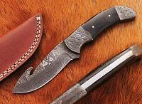 Beautiful Damascus Handmade Hunting Knife with Buffalo Horn Handle (A6)