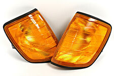 Mercedes W124 1985-1995 AMBER Corner Lights Turn Signals PAIR OEM